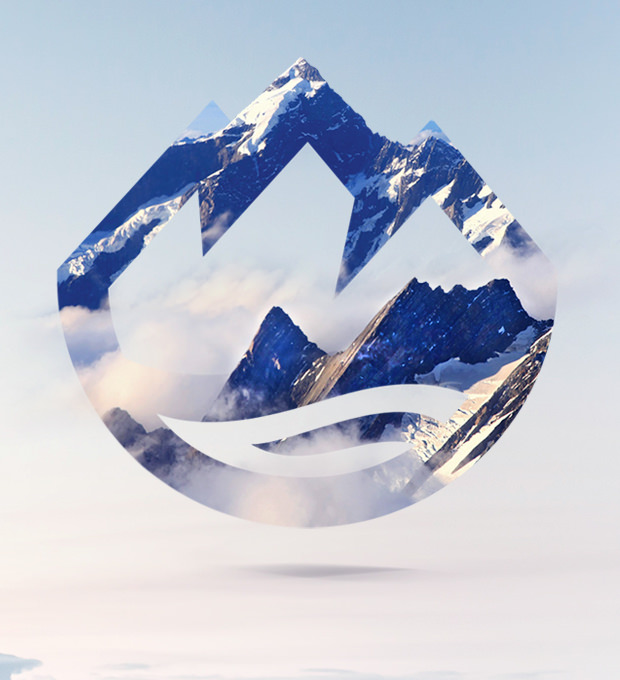 beautiful mountain logo