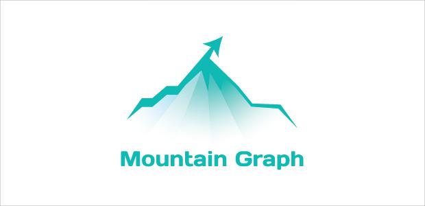 peak mountain graph logo illistration