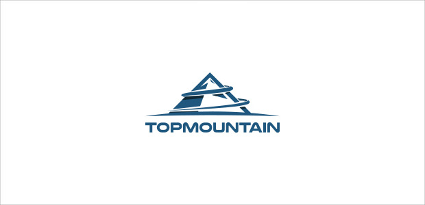 Solid Top View Mountain symbol