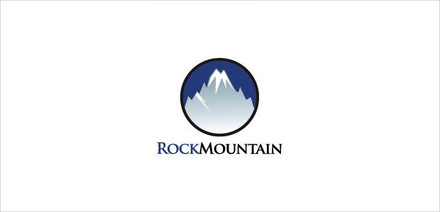 blue Rock mountain Logo