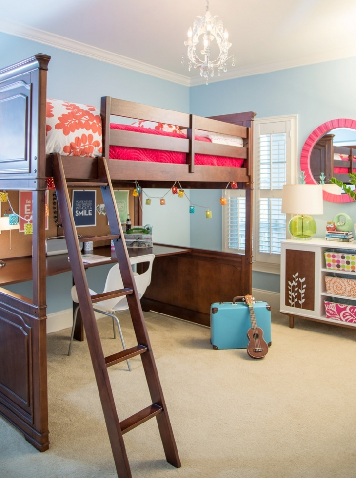 Transitional Teen Girls Bedroom