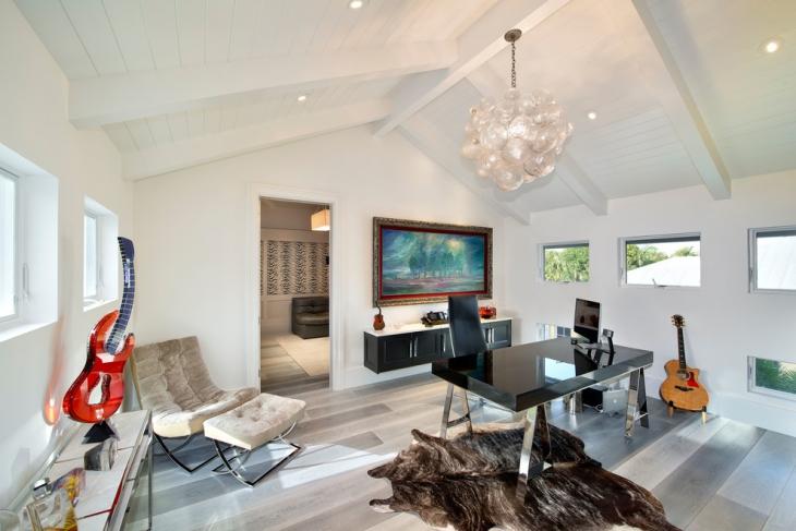coastal home office with modern twist