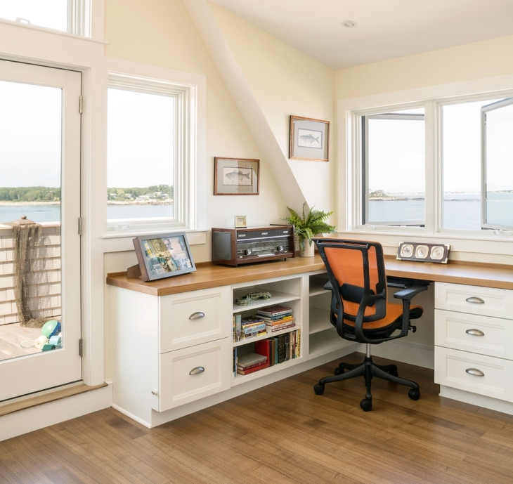 Home Desk Design Ideas: 20+ Coastal Home Office Designs, Decorating Ideas
