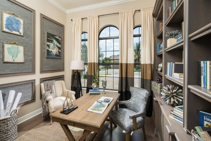 Classic Home Office With Book Shelves