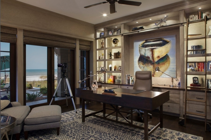 20+ Coastal Home Office Designs, Decorating Ideas | Design ...