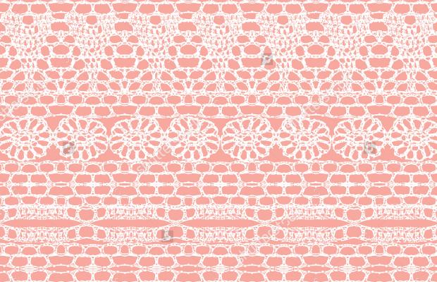 pink seamless lace crochet pattern