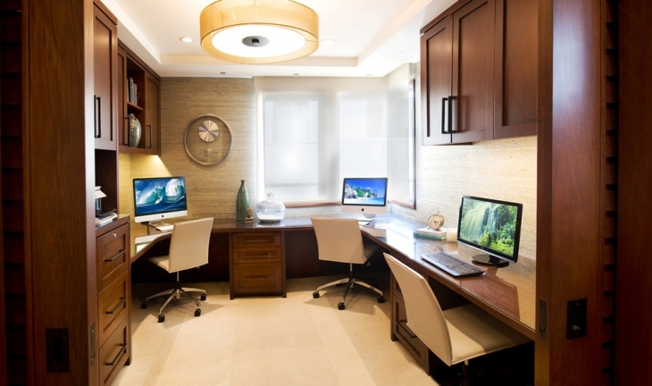 Home Office With Multiple Work Space