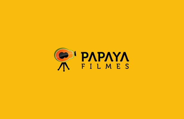 papaya films logo design