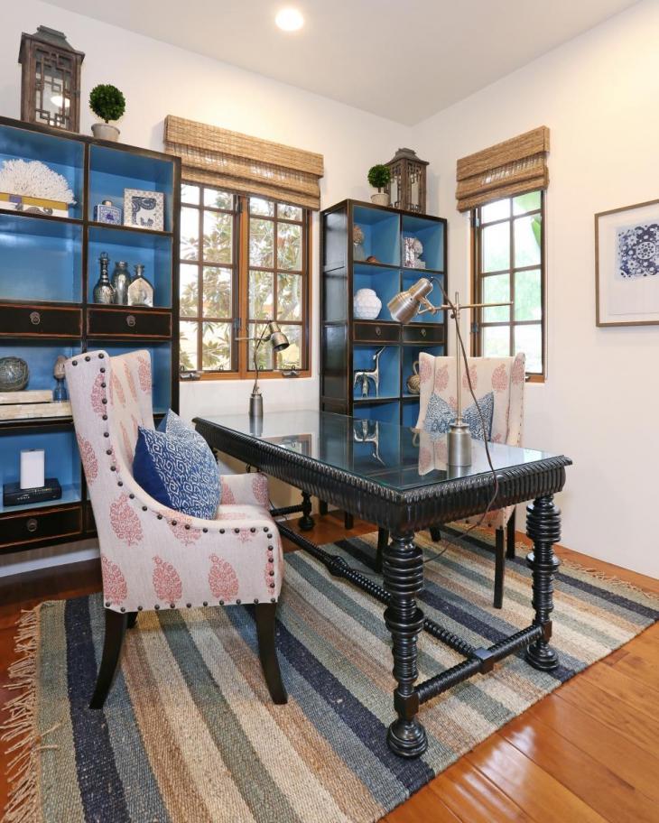 black covet desk for home workspace