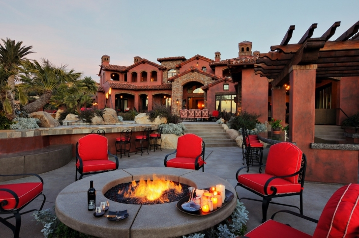 Colorful Outdoor Conversation Pit