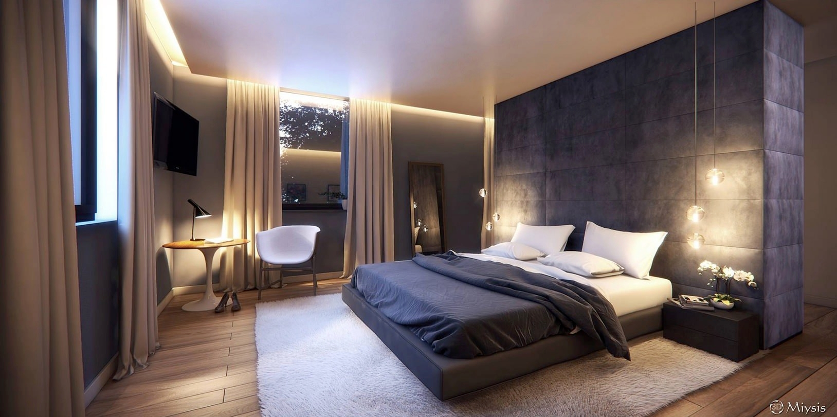 Dreamy Modern Bedroom Interior Design