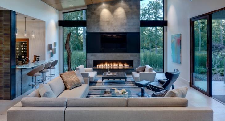 17+ Conversation Pit Home Designs, Decorating Ideas ...