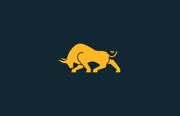 gold bull logo design