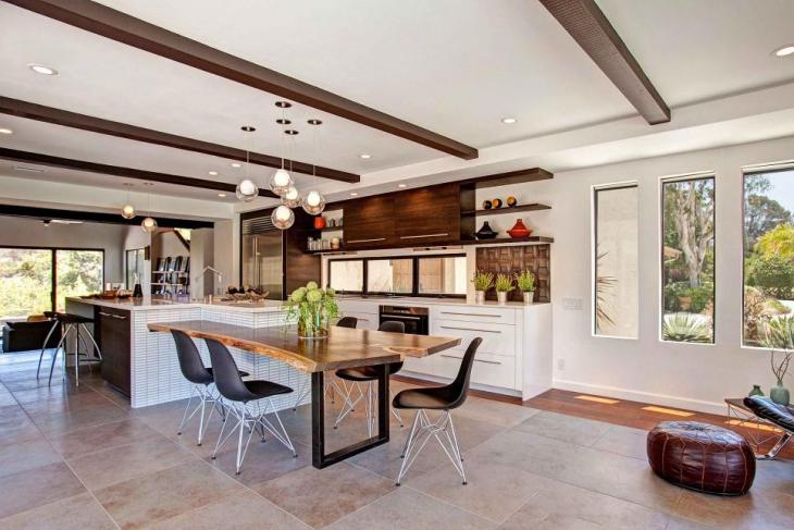 open kitchen design lighting