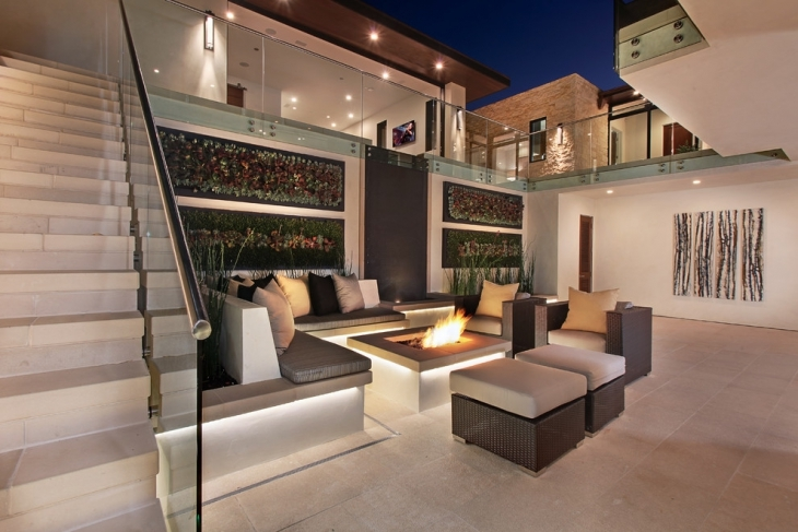 contemporay conversation pit home