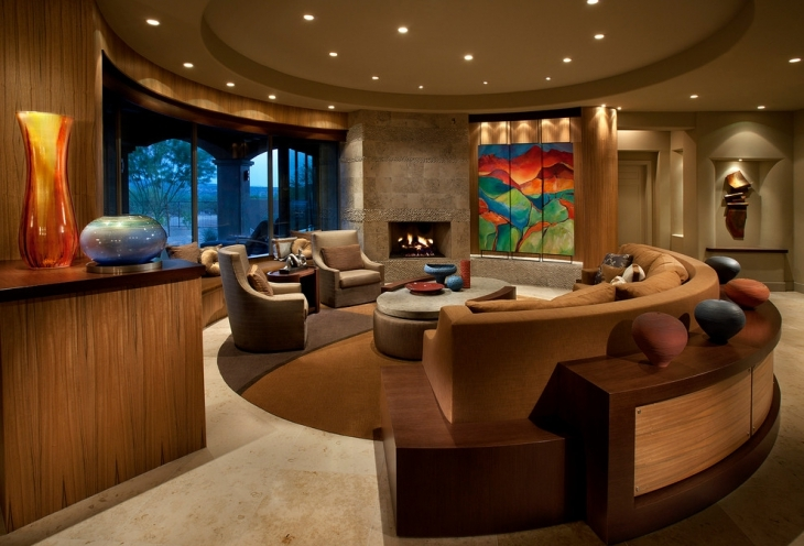 awesome round shaped living room