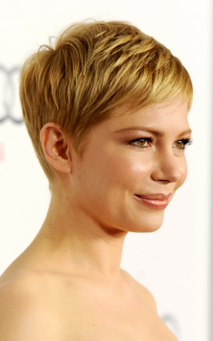 Michelle Williams Short Choppy Hair