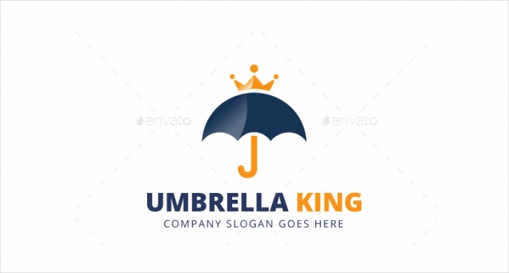 umbrella king logo design