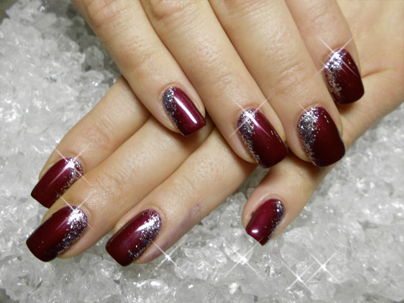 New Year Shine Nail Design