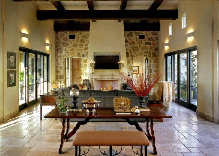 20 stone wall designs decor ideas design trends for Mediterranean fireplace designs