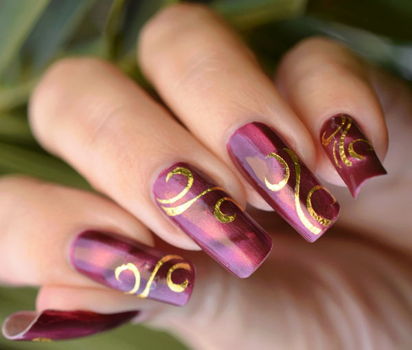 Amazing New Year Nail Design