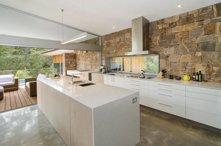 Kitchen Stone Wall
