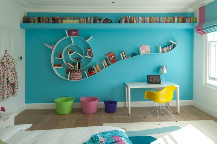 Kids Bedroom Wall Shelf