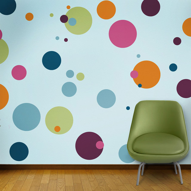 15+ Polka Dot Interior Wall Designs, Decor Ideas | Design Trends