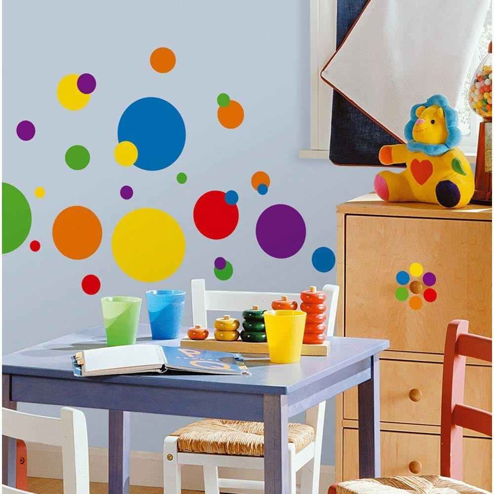 kid polka dot interior wall design - Wall Design For Kids