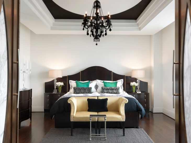 luxury black chandelier design