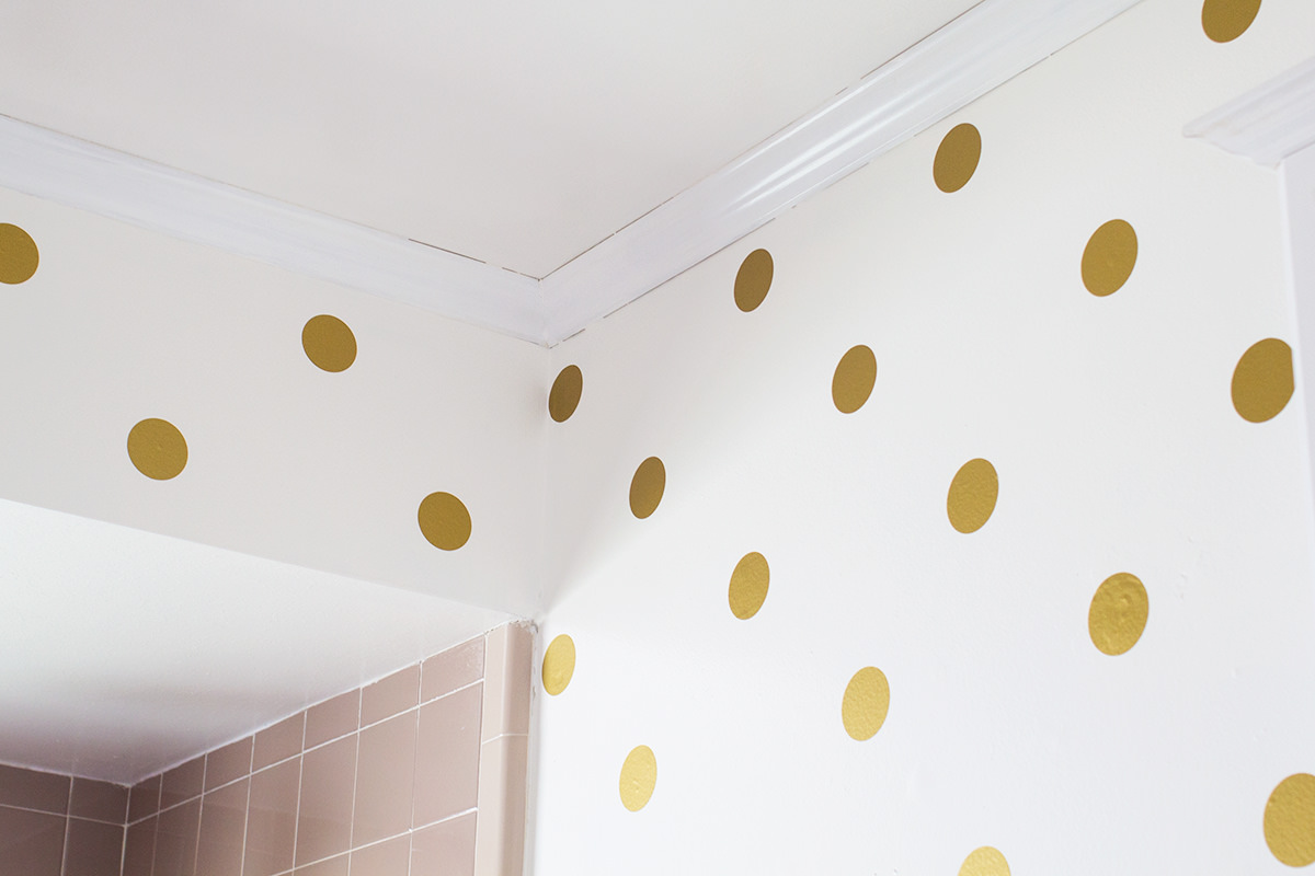 15 Polka Dot Interior Wall Designs Decor Ideas Design