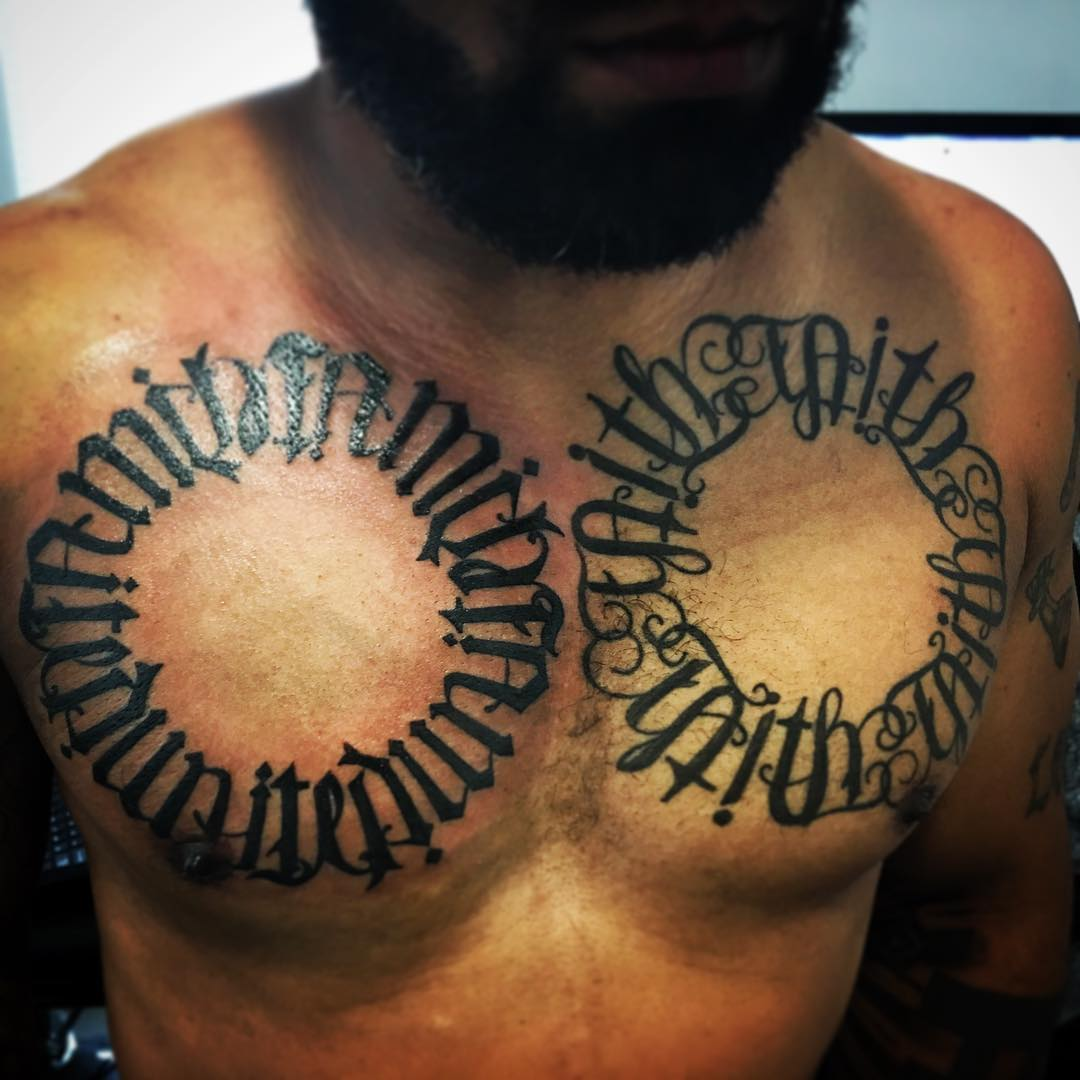 Chain Ambigram Tattoo Ideas