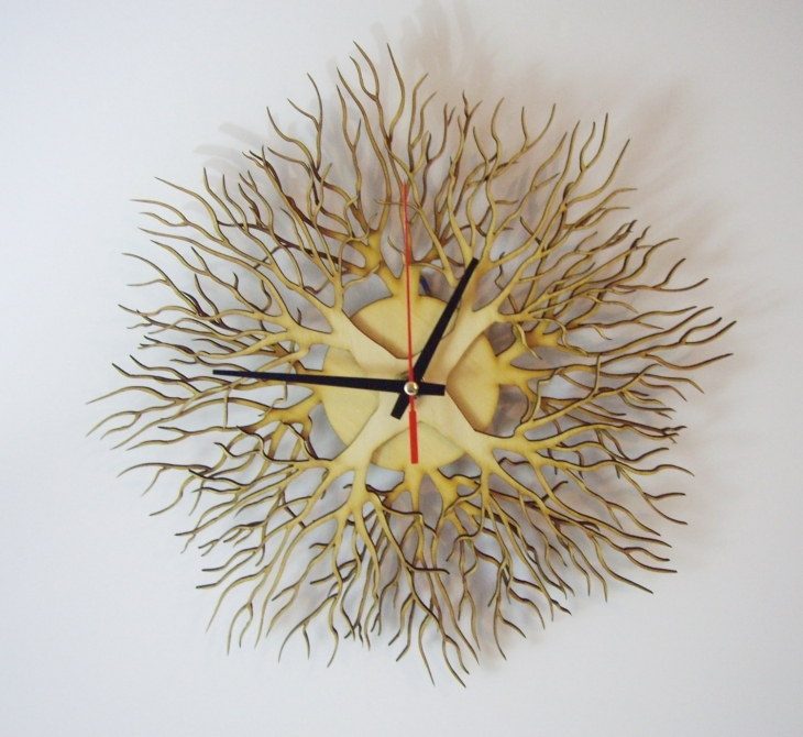 Wooden Tree Shaped Wall Clock