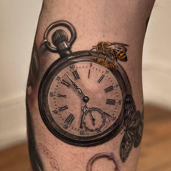 3d watch tattoo design