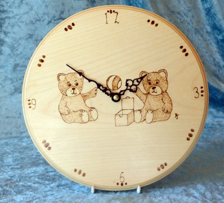 Teddy Bear Wall Clock Idea