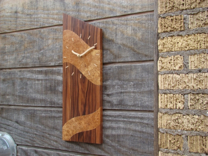 Rosewood Clock For Wall
