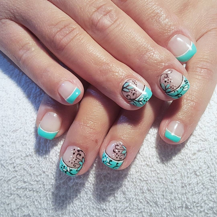 Fabulous Teal Nail Design