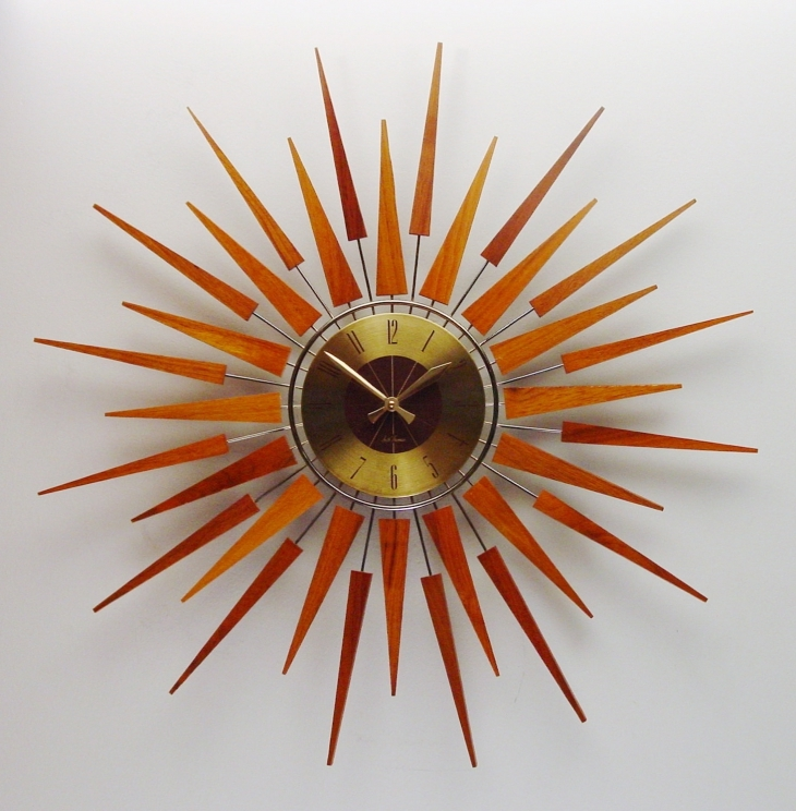 Midcentury Antique Wall Clock