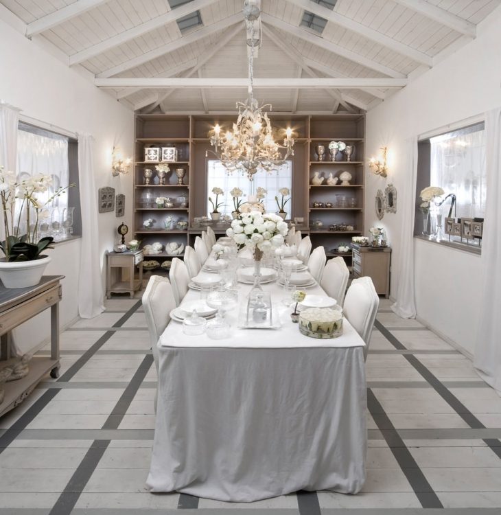 stunning white dining table and chairs