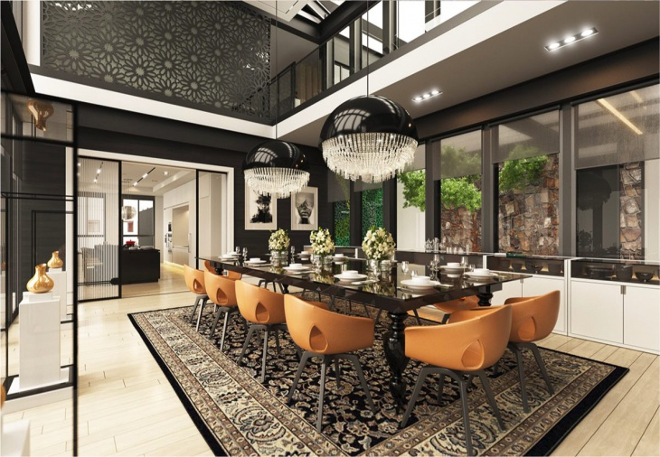 Ultra Modern Large Dining Room