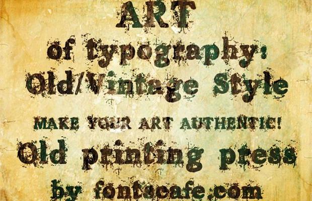 old vintage typewriter font