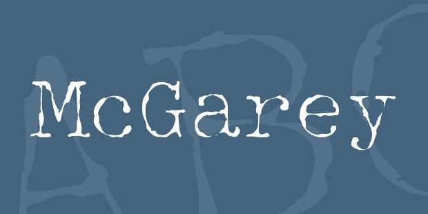 mcgrey font style