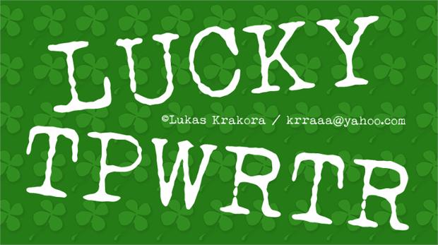 lucky typewriter font
