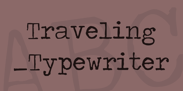 Typewriter Fonts - TTF, OTF Format Download | Design Trends