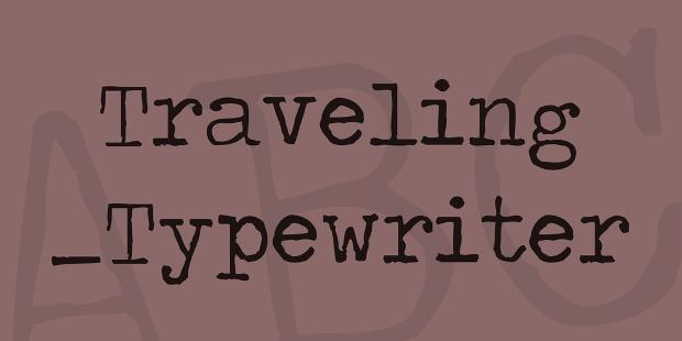 travelling typewriter font