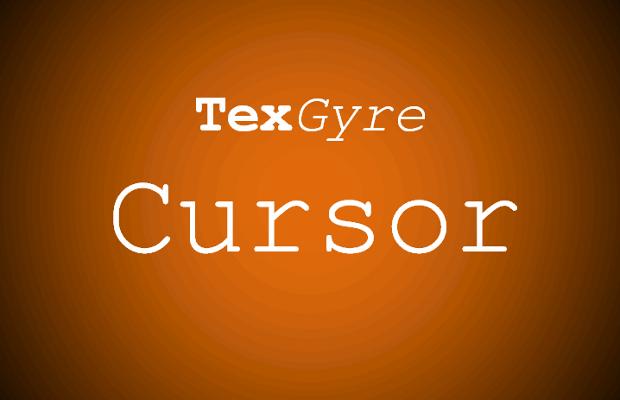 txe gyre cursor font
