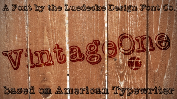 vintage one font style