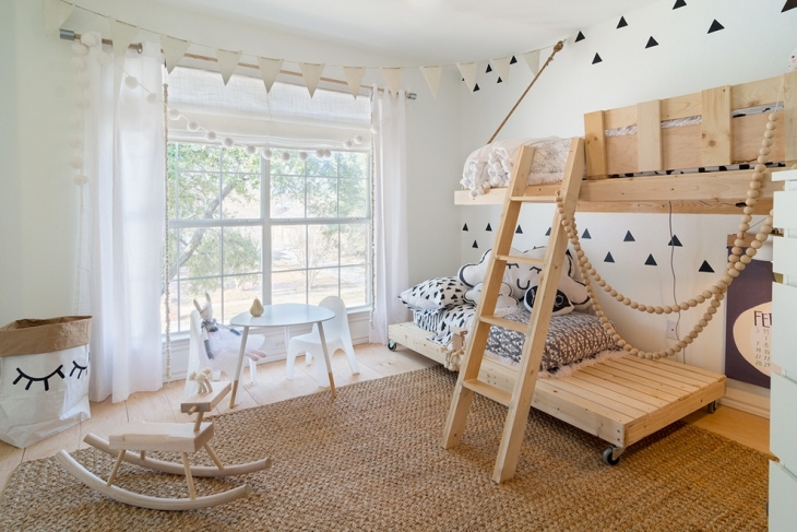 Scandinavian Style Kids Bedroom