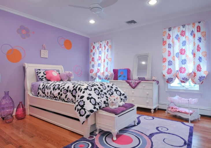 Purple Bedroom Design Idea For Girls