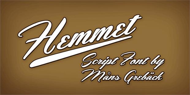 Hemmet Script Font
